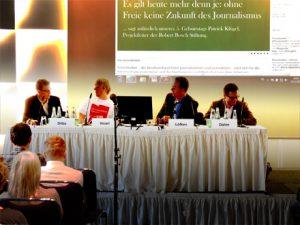 TELI-Session auf der Wissenswerte 2013 - Auf dem Podium: Denis Dilba, Jakob Vicari, Oliver Löfken, Georg Dahm (c) Hajo Neubert