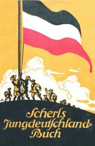 Kriegsverherrlichendes Jahrbuch 1913: Darin schreibt Dominik, dass deutsche Erfindungen Krieg ersparen könnten (c) synergen