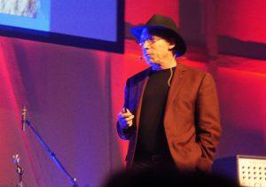 Vortrag/Show von Lawrence Krauss – der Meister in Aktion (Bild: Dörte Sasse)