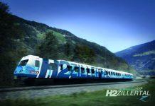 Ab 2022 will die Zillertalbahn mit Wasserstoff fahren und so 800.000 Liter Diesel pro Jahr einsparen. Bild: Zillertaler Verkehrsbetriebe AG anführen