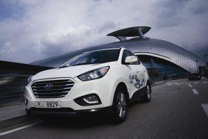 Serien-Elektromobil mit Wasserstoff-Brennstoffzelle: Hyundai ix35 Fuel Cell Foto: Hyundai