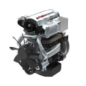 """Der Dreizylinder-Gegenkolbenmotor von Achates soll bei einem Hubraum von 2,7 Liter eine Leistung von """"knapp 200 kW"""" abgeben können. Eingebaut in einen Pickup vom Typ Ford F.150 soll der Kraftstoffverbrauch bei 6,4 Liter liegen. (Quelle: VDI-N, Foto Achates)"""